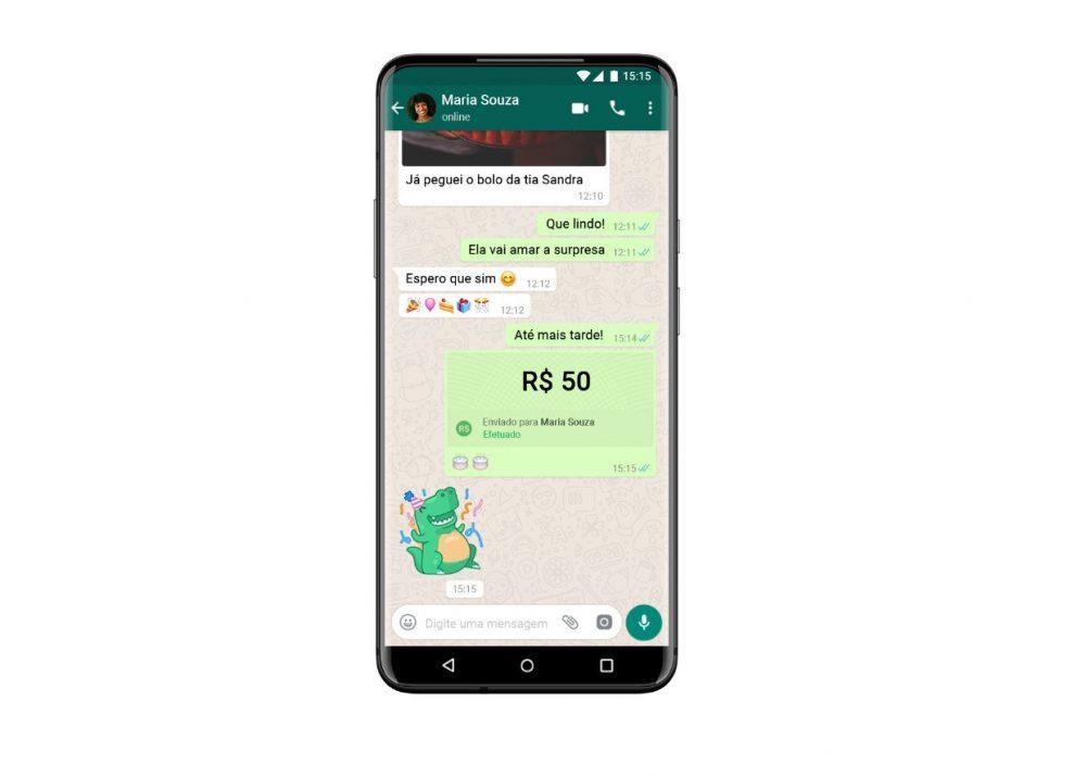 WhatsApp Send Money visa