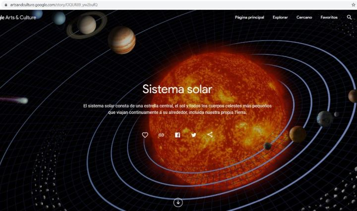 sistema solar google art culture solsticio