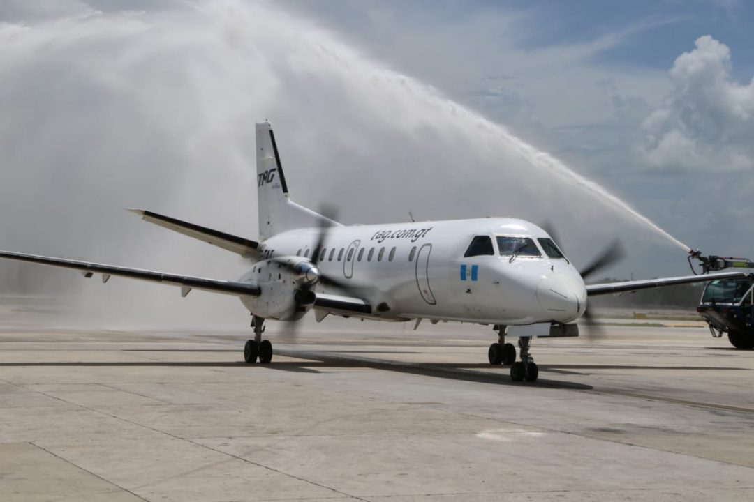 Arribo del vuelo a Cancún TAG Airlines