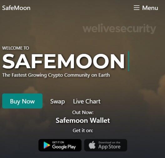 eset safemoon app falsa criptomoneda
