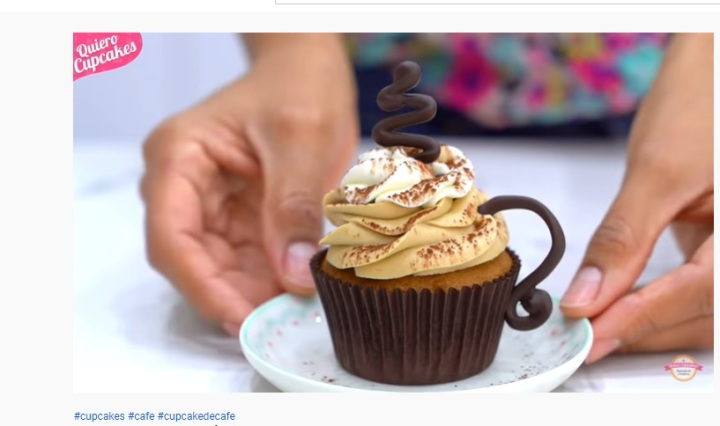 Cupcakes de Café google youtube